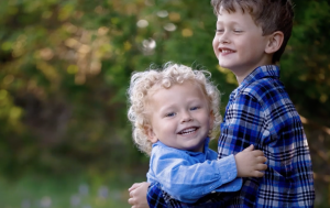 Two smiling healthy children